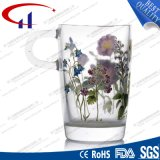 340ml de afgedrukte Kop van het Glas van de Bloem voor Thee (CHM8094)
