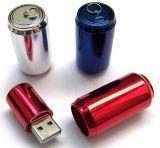 Movimentação do flash do USB do metal do cilindro