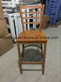 Assento de madeira Banco de baralho de metal para restaurante (FOH-BC001)