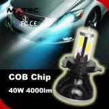 Luz principal do carro do diodo emissor de luz do bulbo do farol do diodo emissor de luz do lúmen 6000k de Guangzhouwhite H11 80W 8000