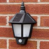 Luzes ao ar livre solares da parede da segurança do sensor de movimento do diodo emissor de luz