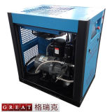 Compresor de aire rotatorio de enfriamiento del tornillo de la inyección del petróleo del ventilador del viento