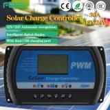 Controlador solar manual PWM 12V 24V 10A 30A para sistema solar 48V