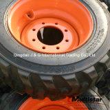 10-16.5、12-16.5のスキッドの雄牛のタイヤの車輪の産業車輪