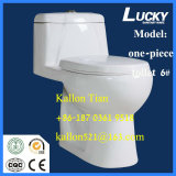 6# WashdwonかCe/Sasoの衛生製品のための浴室の重力のワンピースストラップの陶磁器の洗面所