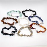 Moda Natural Gemstone Men Women Crystal Beaded Chakra Mookite Carming Bracelet