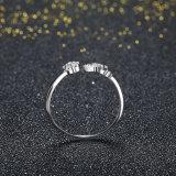 Monili Ringent dell'anello di disegno semplice di figura del fiore dell'argento sterlina 925