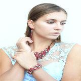 Colar acrílica vermelha do bracelete do brinco da jóia da forma dos grânulos do artigo novo