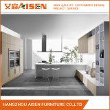 Cabinet de cuisine en mélamine de grain de bois moderne sur mesure