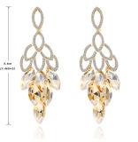 ダイヤモンドの長い吊り下げ式イヤリングの十分の新しいデザイン