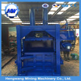 Máquina hidráulica vertical elétrica da prensa do algodão da máquina de embalagem da bala