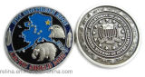 Kundenspezifisches Enamel Military 3D Coin mit Plain Edge