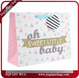 Sacs en papier promotionnels de cadeau de sacs à provisions de cadeau de bébé
