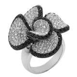 De micro plaatste 925 de Echte Zilveren Juwelen van de Ring met Diamant