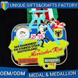 Medaglia antica personalizzata del metallo di sport del rame dell'argento dell'oro con stampa personalizzata variopinta