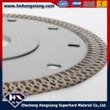Selling quente Cyclone Mesh Turbo Diamond Saw Blade para Title Granite Marble Cutting