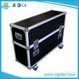 Antislip Plywood Flight Case voor Holding 2 LCD TV Screens met Casters