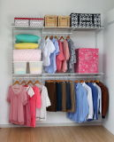 Chrome Finish와 Satin Nickel Surface Treatment (CC-3)를 가진 1.8m Metal Closet Shelving Kit