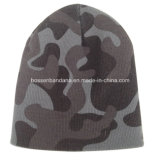 OEMの農産物のCamouglageのロゴは編まれたアクリルのカスタマイズされた帽子のスポーツの帽子を印刷した