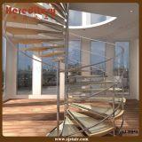 Scala di vetro dell'inferriata dell'interno dell'acciaio inossidabile (SJ-853)