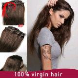 Grampo de cabelo humano brasileiro de Remy do Virgin na extensão do cabelo
