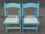 Plastik- und hölzerner Hochzeits-Falz-Stuhl