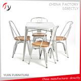 木のシートの金属フレームの現代絵画鋼鉄椅子(TP-41)
