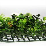 가짜 회양목 산울타리 인공적인 잔디 담