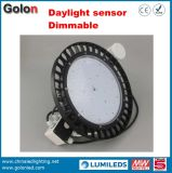 luz elevada impermeável do louro do diodo emissor de luz do UFO 200W do sensor de 130lm/W Dimmable