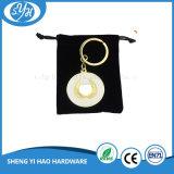 Corrente chave do metal relativo à promoção da corrente chave da marinha com caixa de indicador