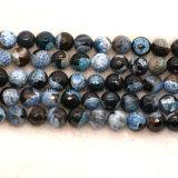 형식 원석 자연적인 수정같은 두 배 색깔 마노에 의하여 면을 내는 구슬