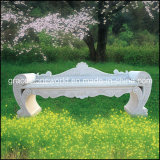 Желтый сад Bench Marble Carved с Lion Head (GS-TB-022)