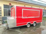 Carro móvil del alimento de la cocina de los alimentos de preparación rápida