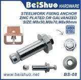 Bullone d'ancoraggio ad alta resistenza placcato zinco di M8X14X50mm Hilti per l'acciaieria