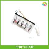 Los cepillos de dientes dentales borran el bolso plástico Ziplock del conjunto del PVC con la maneta