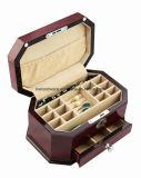 Rectángulo de regalo de madera laqueado del embalaje de la joyería del alto del lustre del piano octágono del final