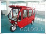 Sedi elettrico-solari del triciclo 5 del passeggero, vagone coperto, rotella tre
