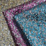 Do couro artificial Shining do saco do plutônio do Glitter tela de couro decorativa