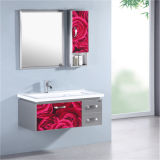 Mobilia semplice della stanza da bagno dell'acciaio inossidabile con il Governo laterale