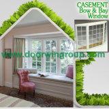Окно Casement твердой древесины и окно подвала для виллы Калифорния, залива & окна решетки смычка для столовой