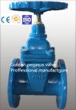 Valvola a saracinesca resiliente del cuneo di gomma duttile del ferro di DIN3202 F4