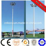 高いマストの街灯柱の上昇システムが付いている鋼鉄ポール・ライトポーランド人つける01競技場