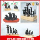 3/8 9PCS / set barras de perforación con punta de carburo de soporte de madera