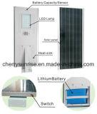 태양 에너지 제품 태양 가벼운 리튬 이온 건전지 판매를 위한 태양 가로등 60W