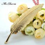 Perni favolosi dei Brooches di grande Oro-Colore di lusso della piuma di marca