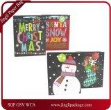 クリスマスのギフト袋、ツイストハンドル、ペーパーギフト袋、紙袋が付いているクラフトのクリスマスのギフト袋