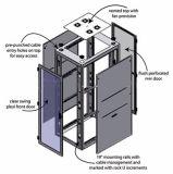UL-modulare Mittelserver-Zahnstangen-Enclosurec gelüftete Panel-Standardtür