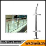 Trilhos de vidro personalizados do balcão do aço inoxidável do projeto
