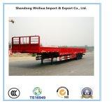 45 toneladas del carro de la pared lateral del cargo del acoplado del plano de acoplado utilitario semi