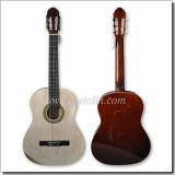 Guitarra clássica superior da madeira compensada por atacado do Linden (AC851A)